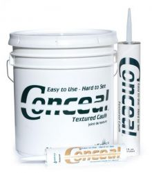 Conceal Textured Caulk Weathered Gray  (1) 10.5 oz Tube